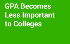 GPA becomes less important to colleges